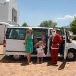 Father Christmas drives shuttle